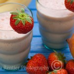 strawberry-mango smoothie