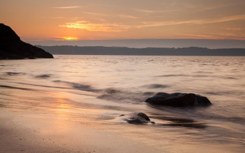 sunset at saintcastleguildo beach